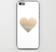 White Gold Love Pattern hard Case for iPhone 6
