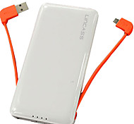 Lincass LC-07 6000mAh External Battery Built-in USB Cable Universal Power Bank for iPhone/iPad/Samsung/Mobile Devices