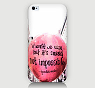 In English the Balloon Pattern Case Back Cover for Phone4/4S Case