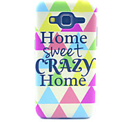Home Sweet Crazy Home Pattern PC Hard Case forSamsung Galaxy Core Prime G360 G360H G3606 G3608 Back Cover