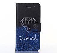 elegant Diamant-Muster PU-Leder Ganzkörper-Fall mit Standplatz für iphone6