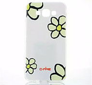 Flowers Pattern TPU Painted Soft Case for Samsung Galaxy E7