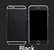 Fibra de carbono 3d cuerpo de vuelta pegatina película llena de 6s iphone 6 más / iphone más (colores surtidos)