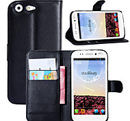 Litchi Around Open Bracket Leather Phone Wallet Card Suitable ForWiko STAIRWAY(Assorted Color)