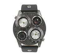 Male The Dual Time Zone Compass Thermometer Military Watches