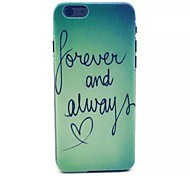 Letter Pattern PC Material Phone Case for iPhone 6