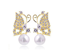 Lovely earrings - butterflies dance Pearl earrings
