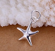 Charming Silver Starfish  Shape Women's Pendents