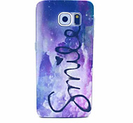 Star Smile Pattern PC Hard Case for Samsung Galaxy S6