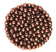 Beadia 100g(Approx 1000Pcs)  ABS Pearl Beads 6mm Round Brown Color Plastic Loose Beads For DIY Jewelry Making