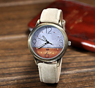 Unisex Fashion Watch Quartz Leather Band Black White Blue