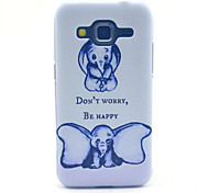 Don't Worry Be Happy Elephant Pattern PC Hard Case forSamsung Galaxy Core Prime G360 G360H G3606 G3608 Back Cover