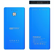 RSEB 6000mAh Portable Mobile Charger External Battery for iPhone6/Samsung Note4/Sony/HTC and Ipad.