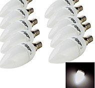 10PCS YouOKLight®  E14 3W CRI=70 200lm 10-SMD2835 Warm White Light Cool White Light LED Candle Bulbs(220~240V)