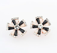 New Arrived Free Shipping Cute Style Multicolor Flower Resin Crystal Earrings For Women
