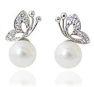 The butterfly pearl earrings