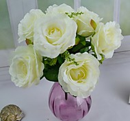 "New 4 Colors Silk Rose Bouquet 8.66"" for Wedding and Home Decoration(More Colors)"