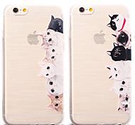 Cute Cat Pattern TPU Soft Case for iPhone 6S Plus/6 Plus