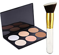 Pro Party 6 Colors Face Bronzing Powder Makeup Palette + Blush Brush