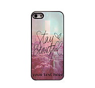 Personalized Gift Stay Beautiful Design Aluminum Hard Case for iPhone 5/5S