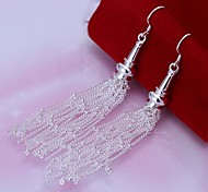 18 Line  925 Silver Drop Earrings Wedding/Party/Daily/Casual 2pcs