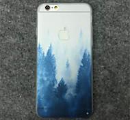 pintura de paisagem caso de telefone padrão TPU para Iphone 6