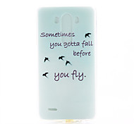 Asuka Pattern TPU Material Soft Phone Case for LG G3