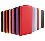 o couro liso abrir seguinte cima e para baixo para LG f60 (cores sortidas)