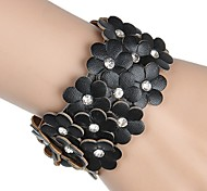 Z&X® Fashion Flower Leather Bracelets Party/Daily/Casual 1pc