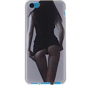 sexy figure design TPU capa mole para iphone 5c