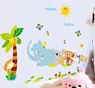 Cartoon Multi-Colors Animals Party PVC Wall Sticker Wall Decals