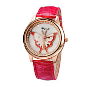 Original High Quality Women PU Leather Creative butterfly Casual Watches Pendant Relogio Feminino Ladies Student watch