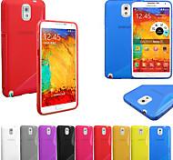 Super S-Muster-TPU weiche Tasche für Samsung Galaxy Note N9000 3 (Farbe sortiert)
