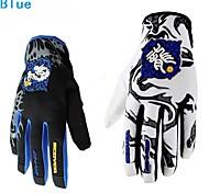 Motorrad-Handschuhe Vollfinger Nylon/Polyester/Lycra M/L/XL/XXL Rot/Schwarz/Blau