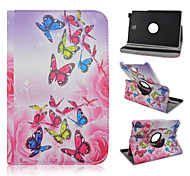8 inch 360 graden rotatie vlinder patroon stand case voor Samsung Galaxy Tab een 8,0 sm-T350 / T351