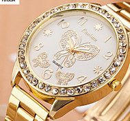 Women's Fashion Watch Swiss Designer Quartz Alloy Band Butterfly Gold