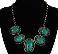Women's Vintage Blue Resin Necklaces