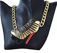 Women Fashion Stiletto Pendant Chain Necklace