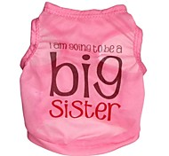 """Cute """"Big Sister"""" Pattern Terylene Vest for Dogs (Assorted Sizes)"""
