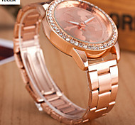 Lady'S Quartz Alloy, Switzerland Watch Steel Band Watch Fashion Rose