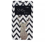 Deer Pattern PU Leather Phone Case For Sony C4