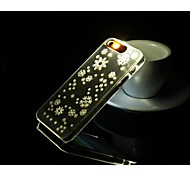 Fashion callerid Luminous Phone Case Creative Back Flashlight Phone Shell For iPhone 6 Casesbig snowflake pattern