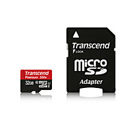 Transcend TF Micro SDHC / TF Memory Card w/ SD Adapter - Black(32GB / Class 10)