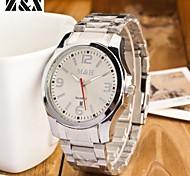 la montre mode sport de ceinture en acier de quartz des hommes (couleurs assorties)