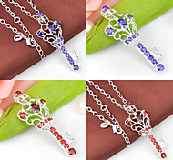 Friend Gift Gorgeous Fire Garnet Amethyst Gem 925 Silver Crown Pendants Necklaces For Wedding Party Daily 1pc