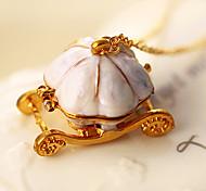 HUALUO®Korean Drip Cinderella Pumpkin Vehicle Necklace