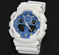 Men's Fashion Plastic White Band Digital Watch