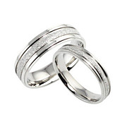 Pearl Sand/Titanium Steel Ring Couple Rings/Statement Rings Wedding/Party/Daily/Casual