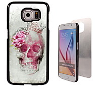 Skull and Rose Design Aluminum Hard Case for Samsung Galaxy S6