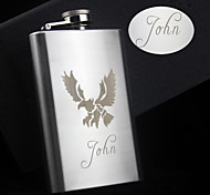 Personalized Gift 5oz The Eagle Design Narrow Stainless Steel Flask